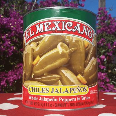 JALAPEÑOS ENTEROS EL MEXICANO 2.8KG